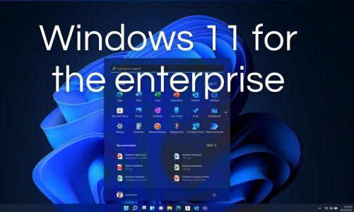 Windows 11 for the enterprise